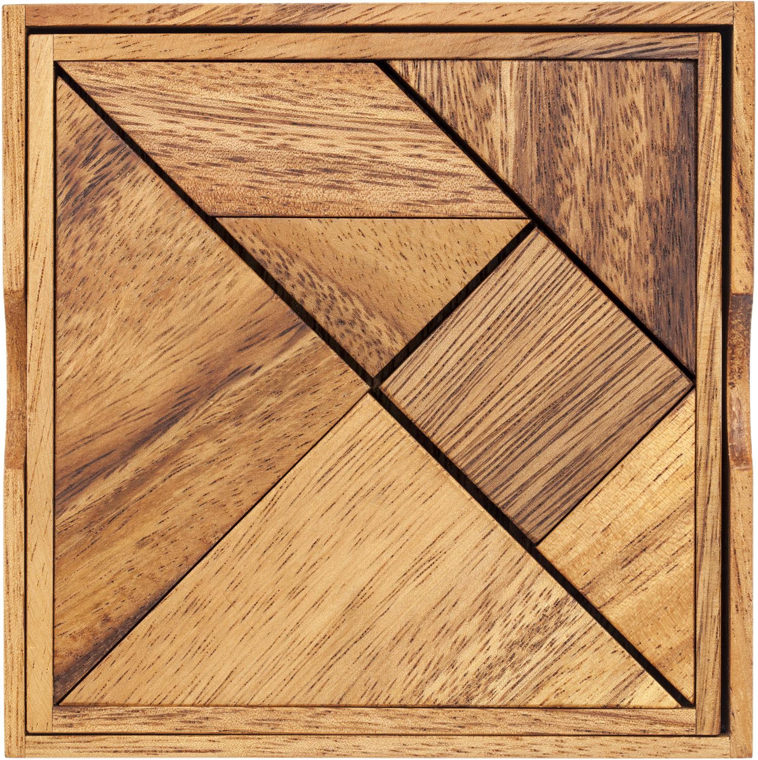 Wooden Tangram Puzzle.