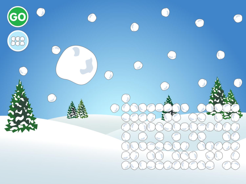 100 Snowballs Game Start Screenshot.