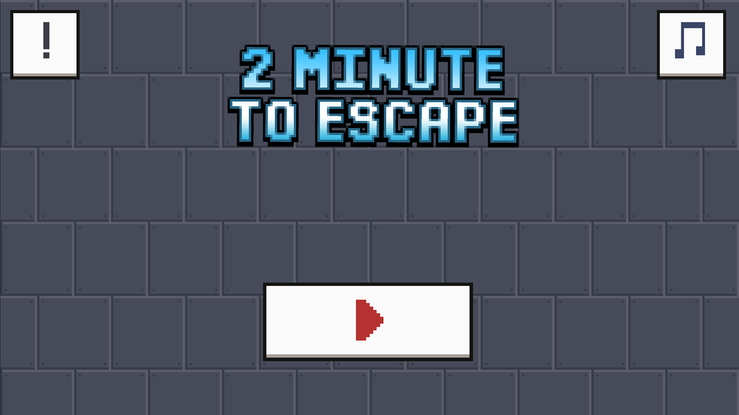 2 Minutes to Escape Welcome Screen Screenshot.