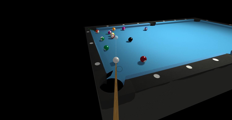 3D Pool Game Screenshot.