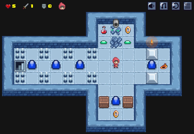 Dungeon Knight Game Screenshot.