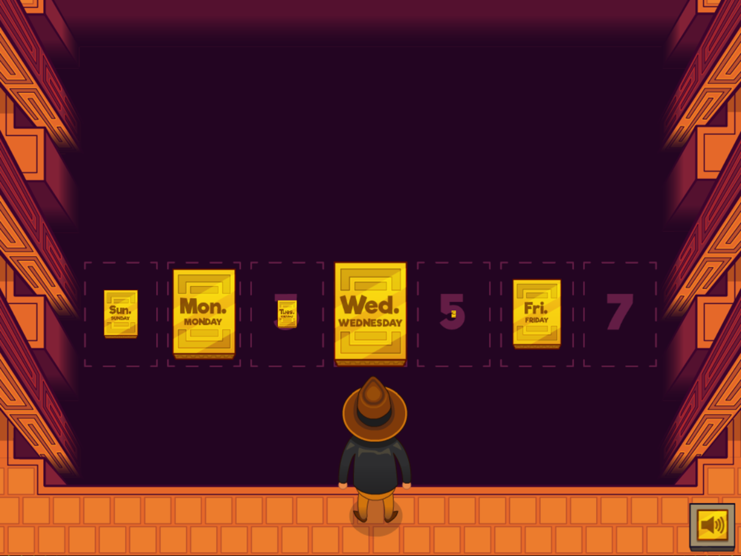 Adventure Man and the Days of the Week Game Arranging Days Complete Screenshot.