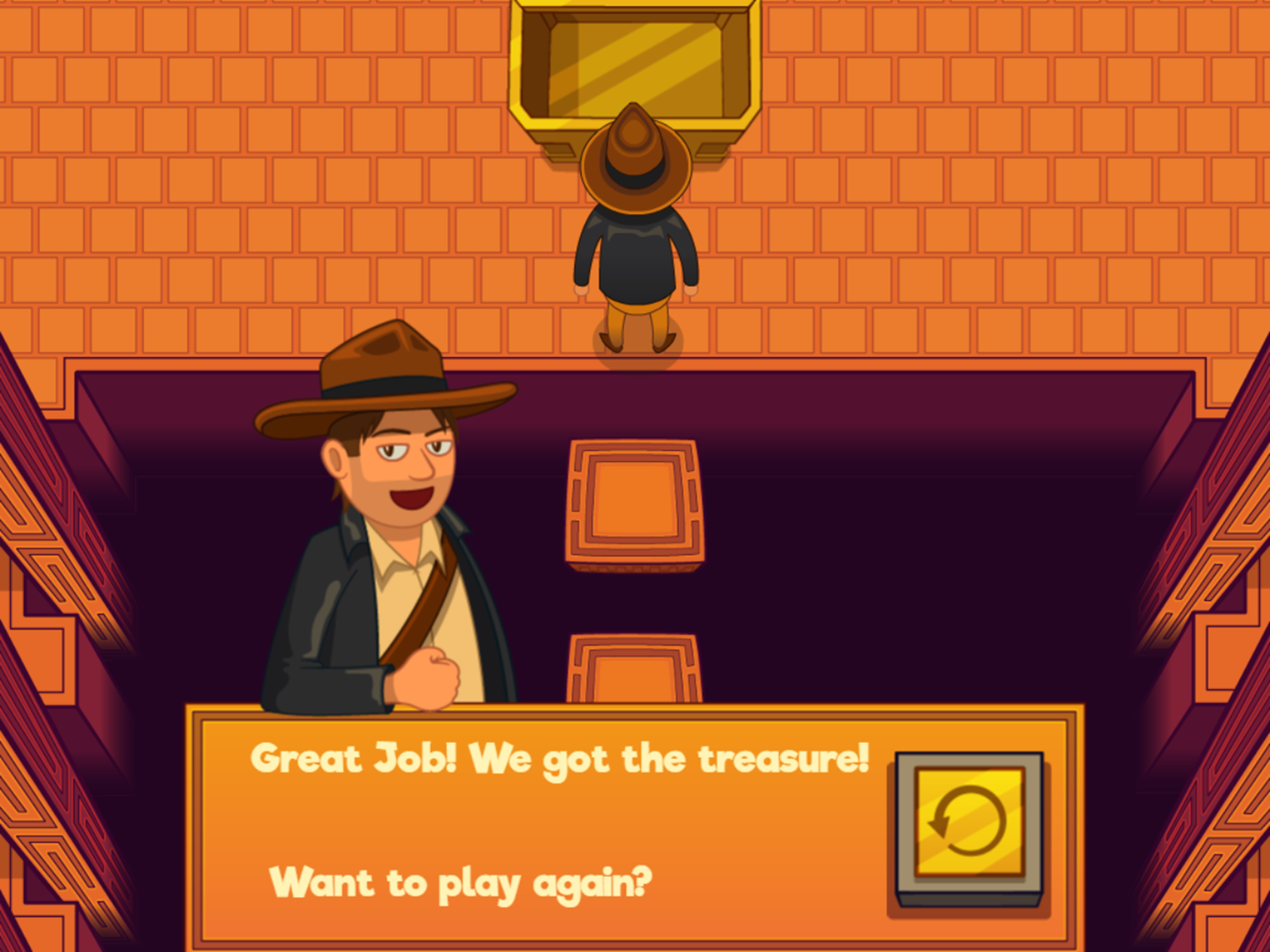 Adventure Man and the Days of the Week Game Complete Screenshot.