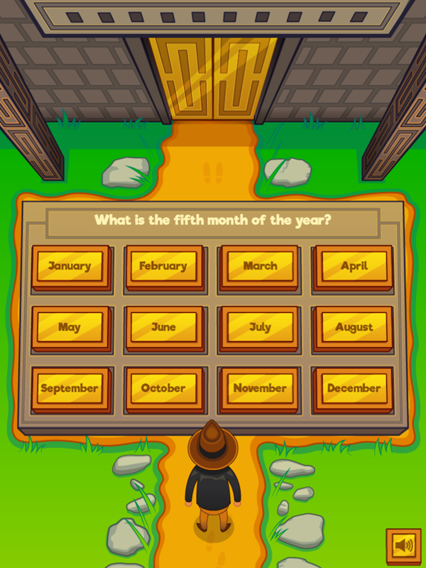 Adventure Man and the Months of the Year Game Screenshot.