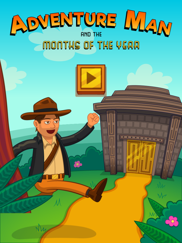 Adventure Man and the Months of the Year Game Welcome Screen Screenshot.