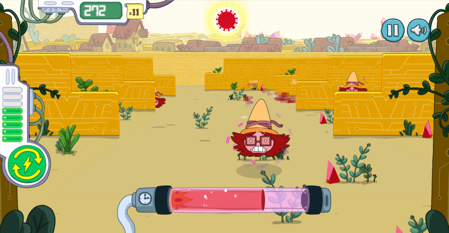 Adventure Time Angry Betty Game Screenshot.