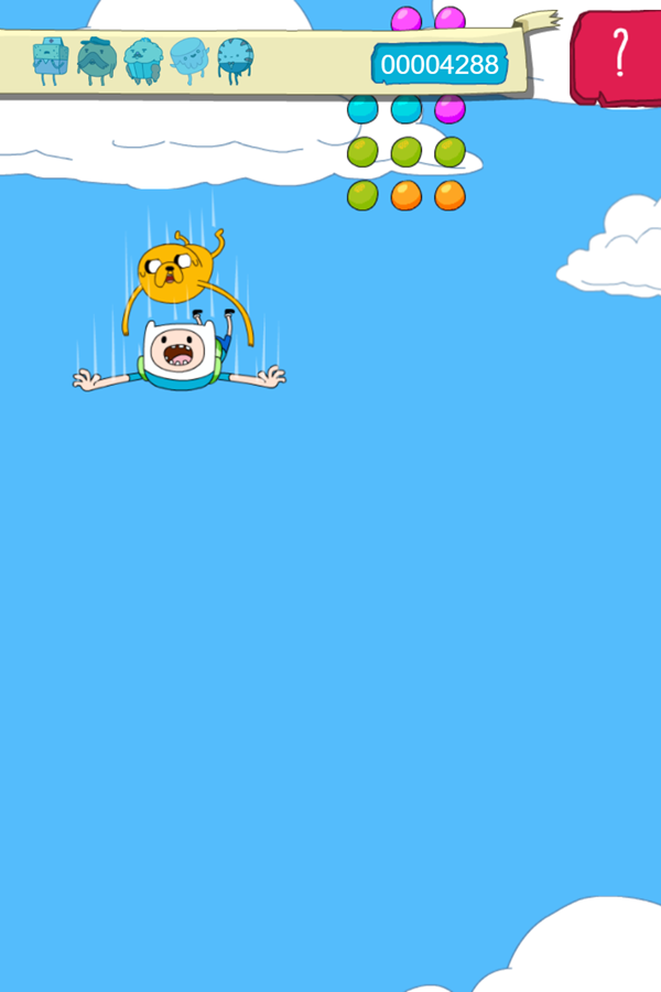 Adventure Time Candy Dive Game Screenshot.
