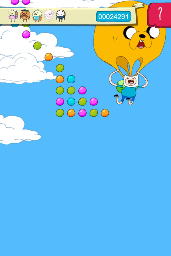 Adventure Time Candy Dive Game Jake Shute Open Screenshot.