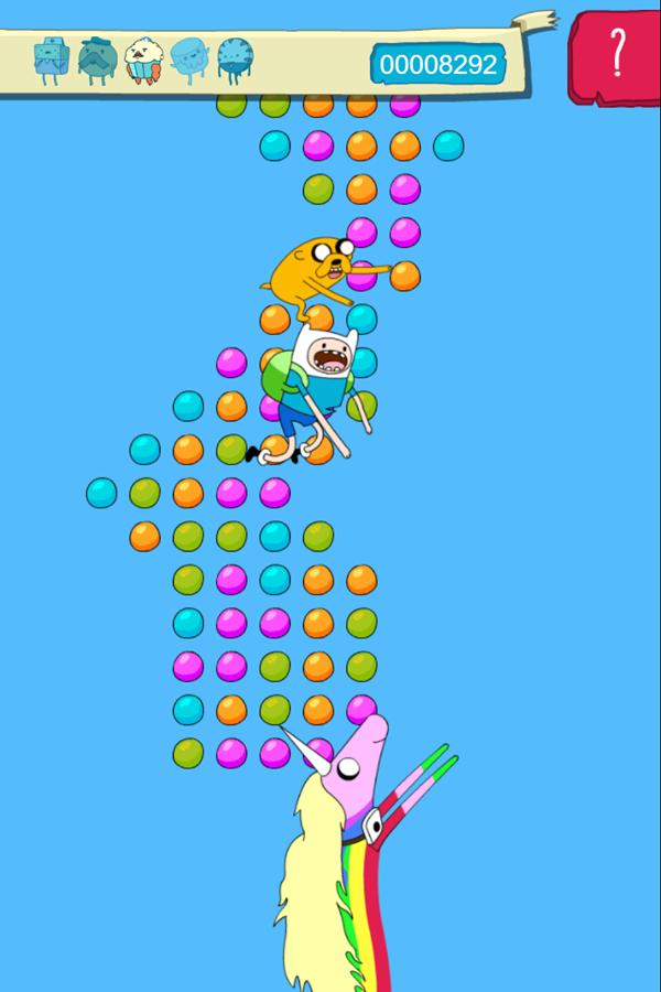 Adventure Time Candy Dive Game Rainicorn Release Screenshot.