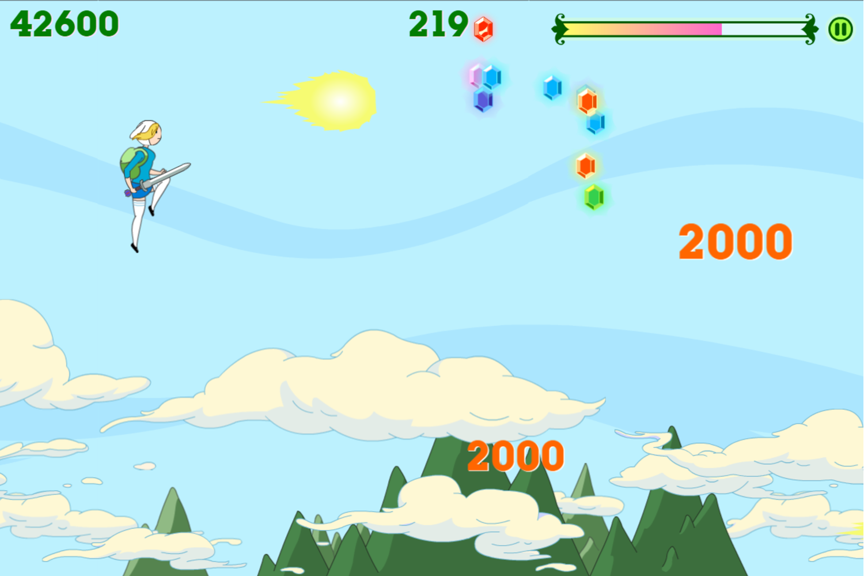 Adventure Time Fiona Fights Game Fireballs Screenshot.