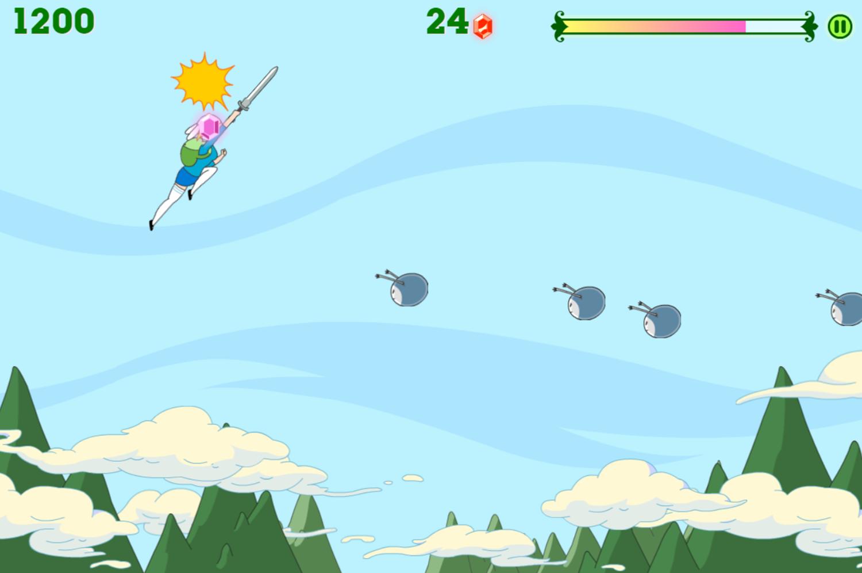 Adventure Time Fiona Fights Game Screenshot.