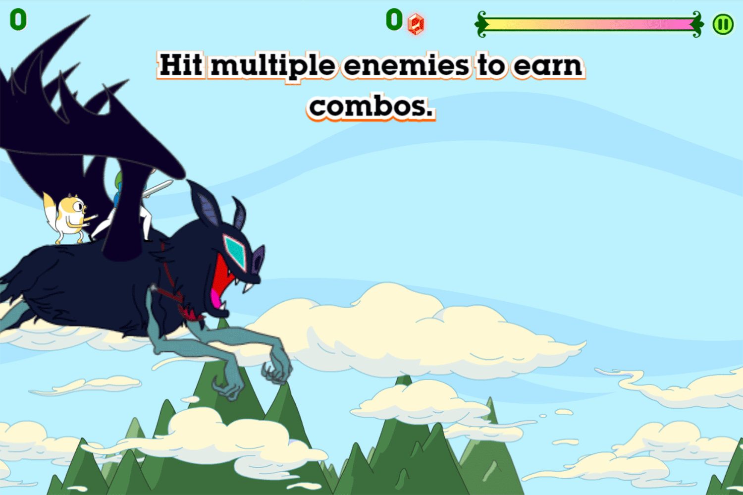 Adventure Time Fiona Fights Game Instructions Screenshot.