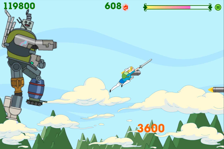 Adventure Time Fiona Fights Neptr`1 Screenshot.