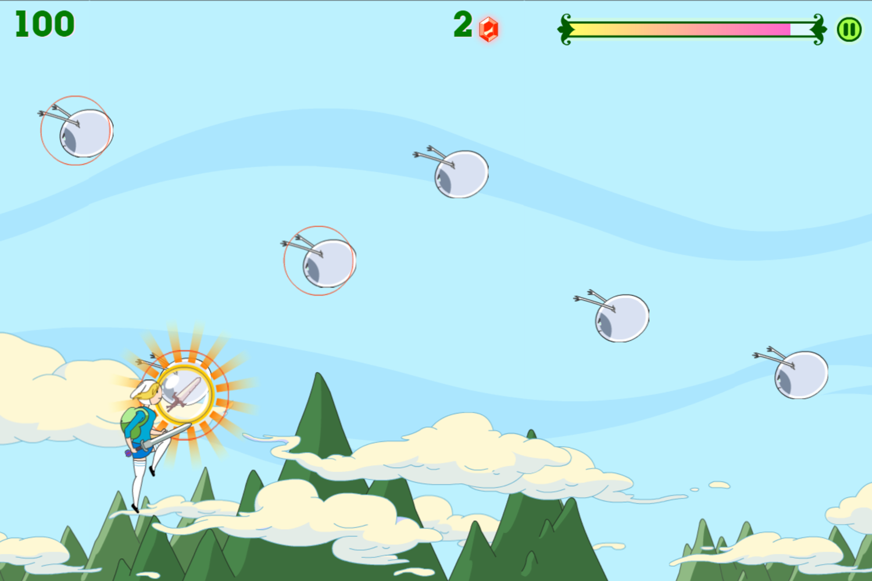 Adventure Time Fiona Fights Game Sword Pickup Screenshot.