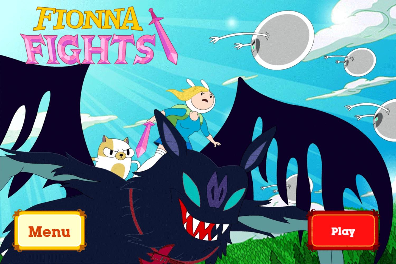 Adventure Time Fiona Fights Game Welcome Screen Screenshot.
