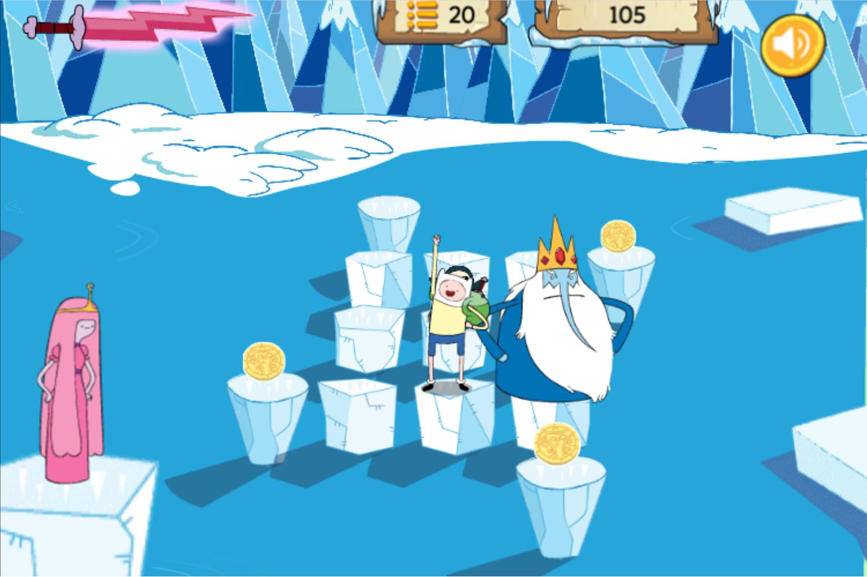 Adventure Time Frosty Fight Final Level Screenshot.