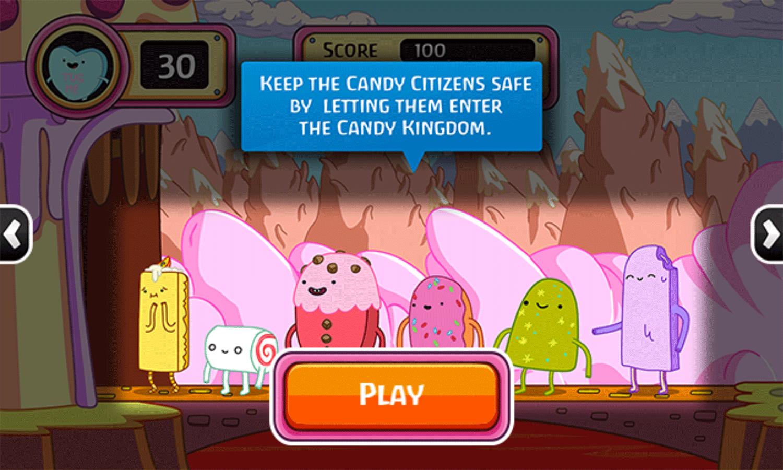 Adventure Time Gate Crashers Game Instructions Screenshot.