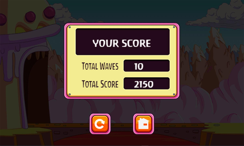 Adventure Time Gate Crashers Game Score Screenshot.