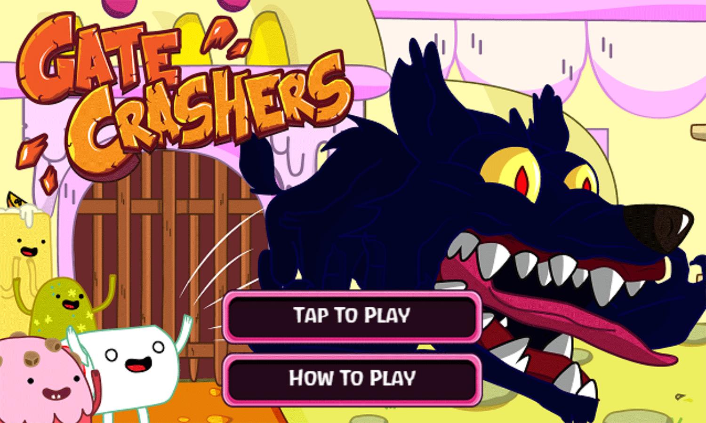 Adventure Time Gate Crashers Game Welcome Screen Screenshot.