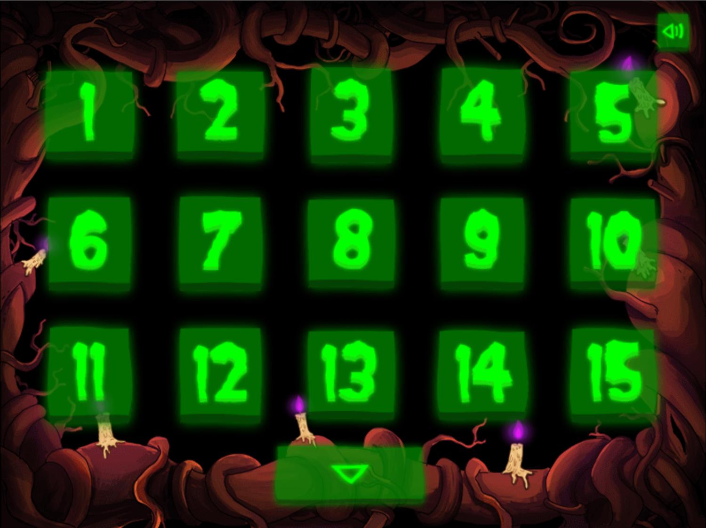 Adventure Time Rumble in the Nightosphere Level Select Screen Screenshot.