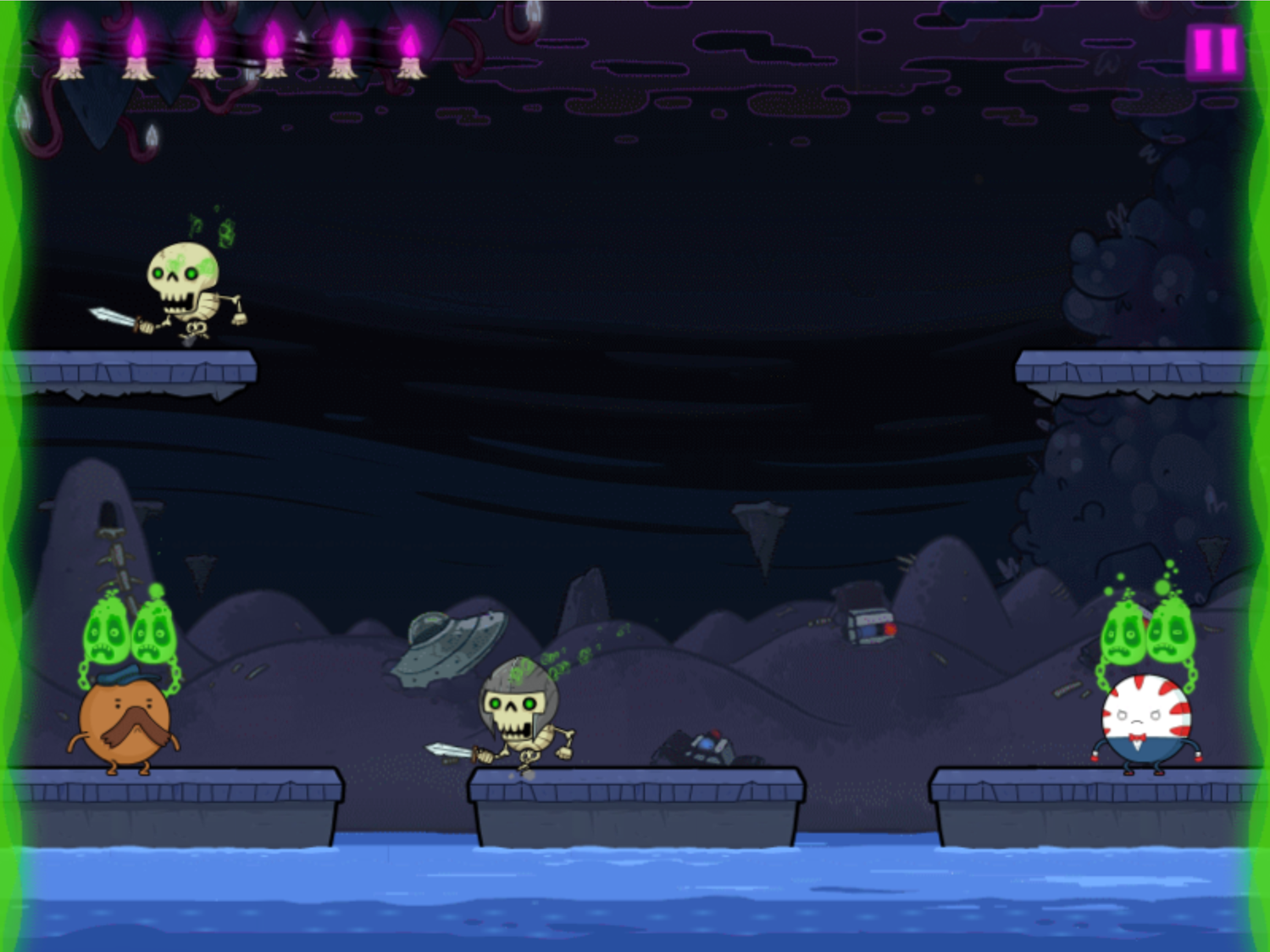 Adventure Time Rumble in the Nightosphere Game Two Player Mode Screenshot.