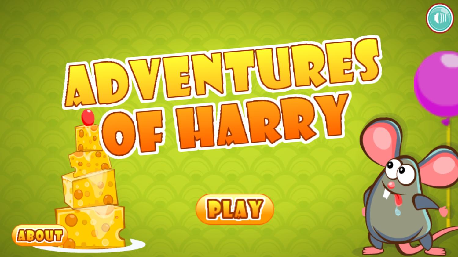Adventures of Harry Welcome Screen Screenshot.