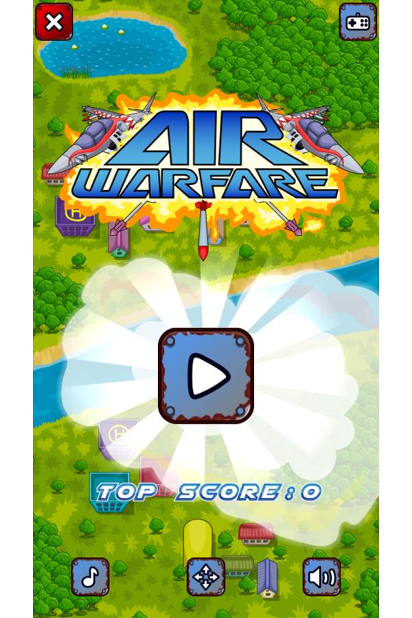 Air Warfare Welcome Screen Screenshot.