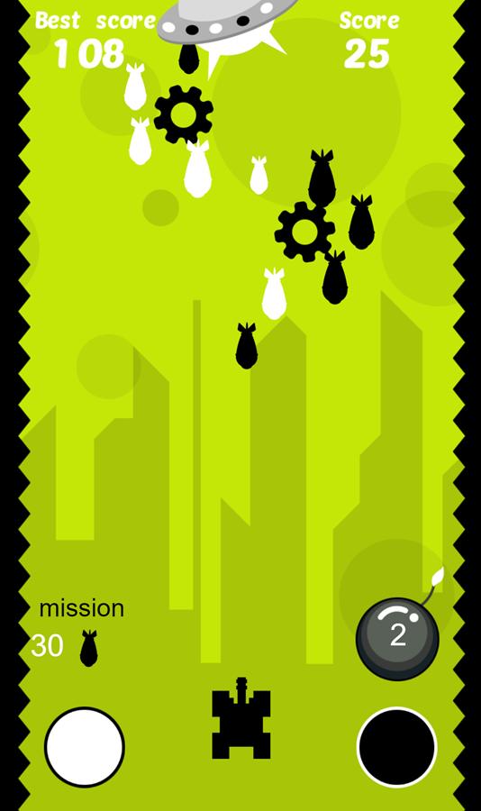 Alien Tank Defender Game Screenshot.
