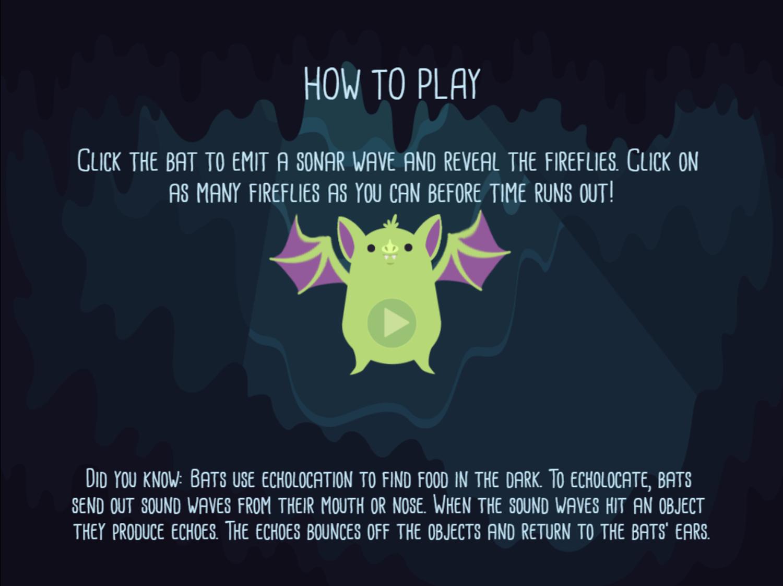 Alphabats Alliteration Game Catch Fireflies How To Play Screenshot.