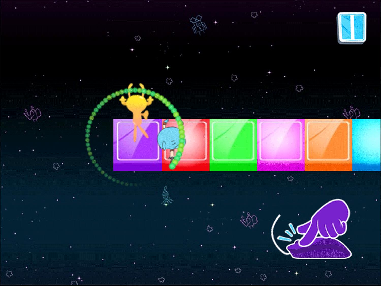 Amazing World of Gumball Gumball's Rhythmic Romance Game How To Play Screenshot.