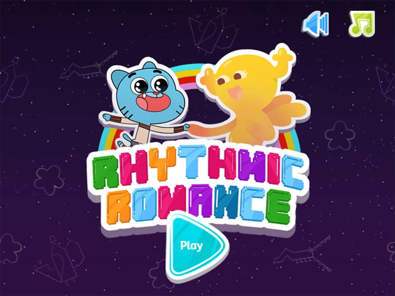 Amazing World of Gumball Gumball's Rhythmic Romance Game Welcome Screen Screenshot.
