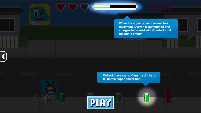 Amazing World of Gumball Suburban Karate Master Game Instructions Screenshot.