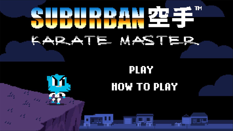Amazing World of Gumball Suburban Karate Master Game Welcome Screen Screenshot.