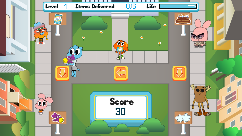 Amazing World of Gumball Watterson Express Game Screenshot.