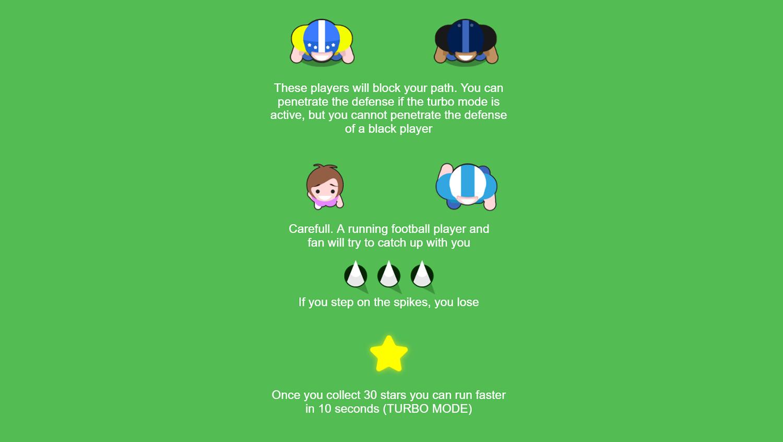 American Football Santa`s Run How To Play Screenshot.