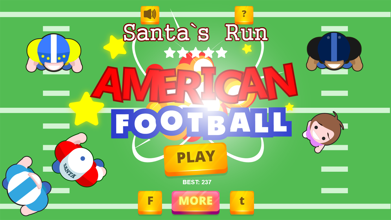 American Football Santa`s Run Welcome Screen Screenshot.