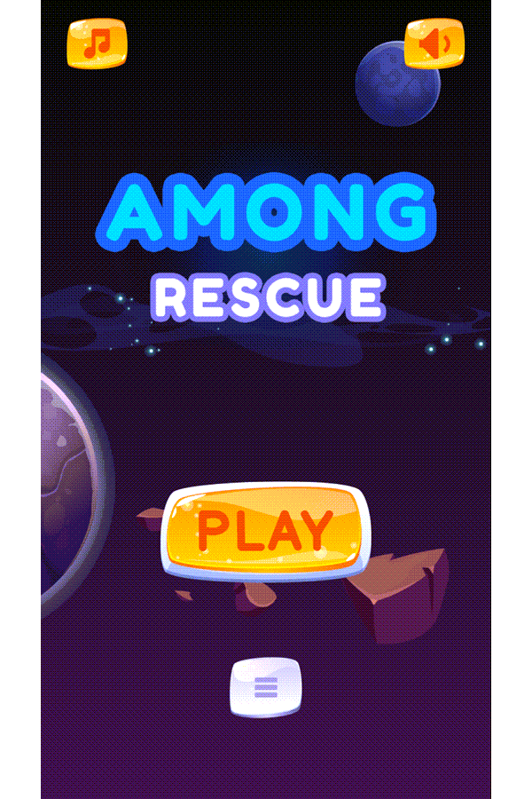 Among Rescue Game Welcome Screen Screenshot.