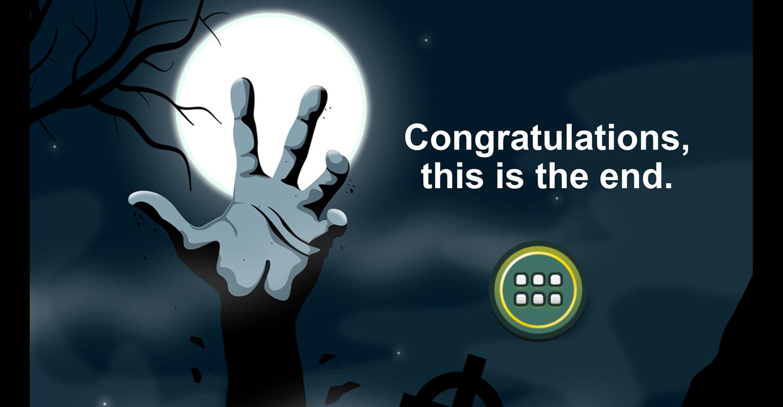Angry Zombies Game Beat Screenshot.