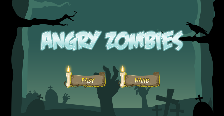 Angry Zombies Welcome Screen Screenshot.