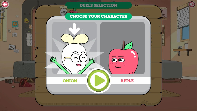 Apple & Onion Beats Battle Choose Character Screenshot.
