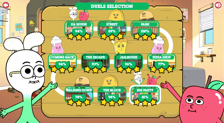 Apple & Onion Beats Battle Duels Selection Complete Screenshot.