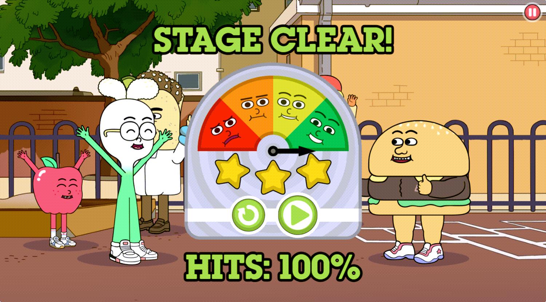 Apple & Onion Beats Battle Stage Clear Screenshot.