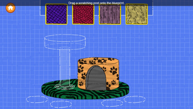 Arthur Animal Home Builder Game Build Scratching Walls Screenshot.