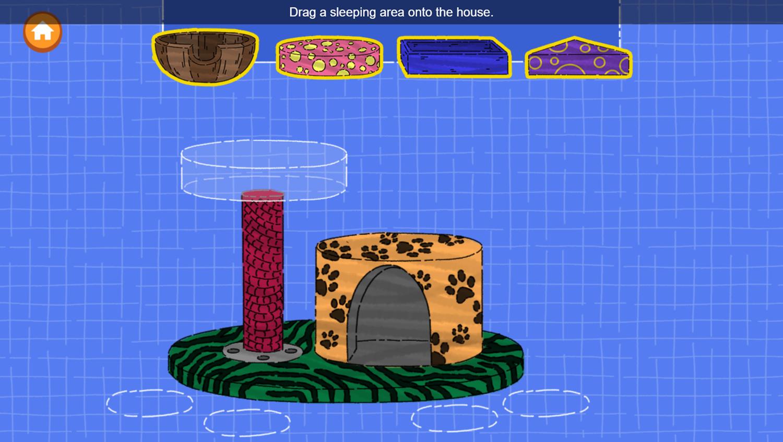 Arthur Animal Home Builder Game Build Sleeping Area Screenshot.