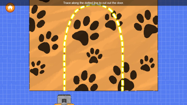 Arthur Animal Home Builder Game Create Door Screenshot.