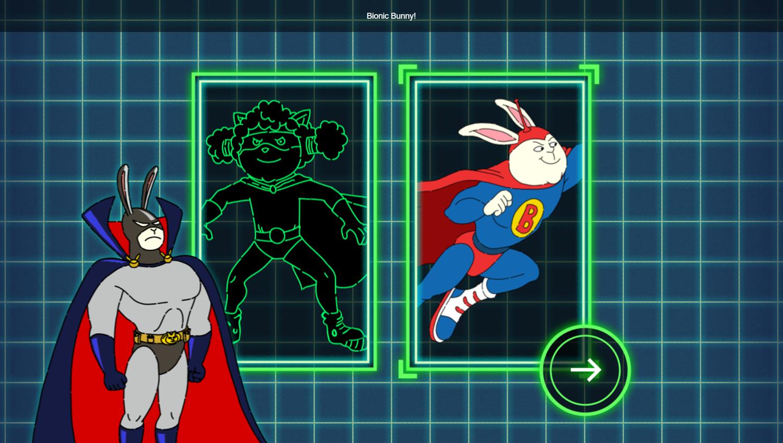 Arthur Dark Bunny Needs Your Help Game Select Sidekick Screenshot.