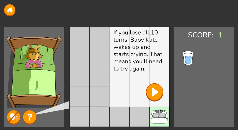 Arthur Don't Wake Kate Game Extra Tips Screenshot.
