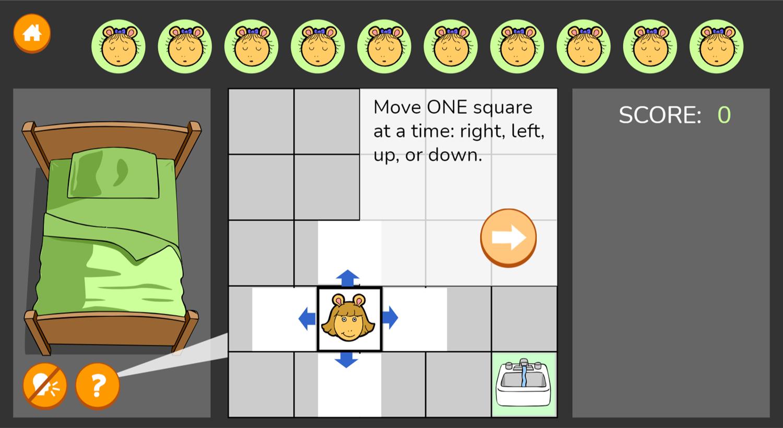 Arthur Don't Wake Kate Game How To Move Screenshot.