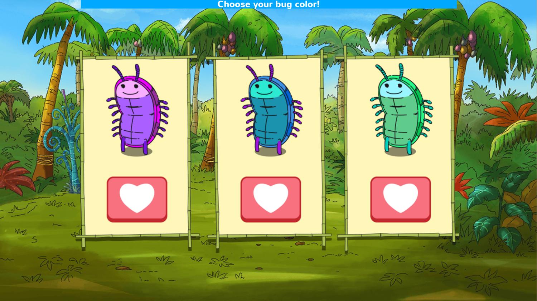 Arthur D.W.'s Island Bugball Game Choose Bug Color Screenshot.