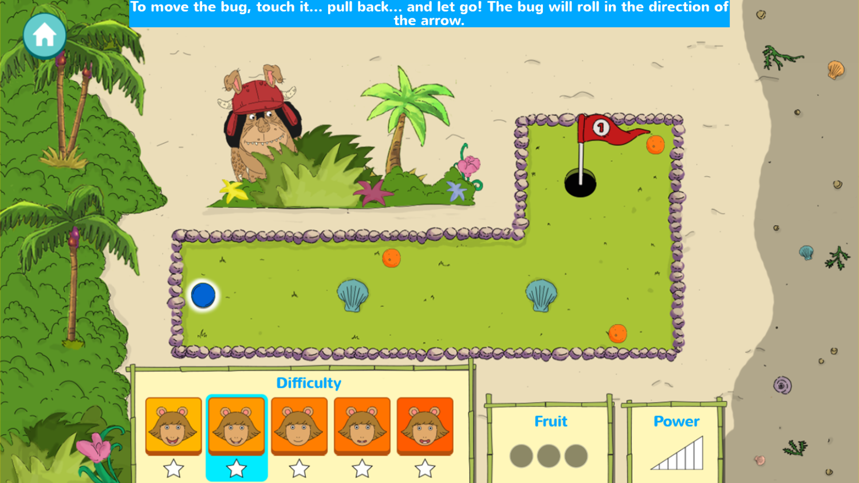 Arthur D.W.'s Island Bugball Game How To Play Screenshot.